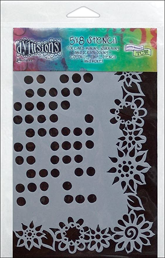 Ranger Dyan Reaveley/'s Dylusions Stencils 9 x 12-inch Dotted Flowers