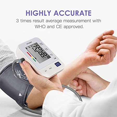 Amazon.com: Blood Pressure Monitor, HYLOGY Digital Upper Arm BP Machine Automatic with Large Screen Display and 2 Users Modes, 2 * 90 Memory Storage: Health ...