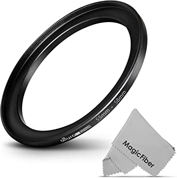 Goja 58-77MM Step-Up Adapter Ring 58MM Lens to 77MM Accessory Premium MagicFiber Microfiber Cleaning Cloth
