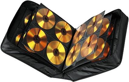 Hama CD Tasche mit Pflegetuch für 304 Discs / CD / DVD / Blu-ray (Mappe zur  Aufbewahrung , platzsparend für Büro, Wohnzimmer und Zuhause, ...
