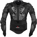 Fastar Chaqueta de Moto,Chaqueta Protectora - Profesional de Motocicleta Protección del Cuerpo Motocross Racing Armadura de Cuerpo Entero Spine Chest (Negro, M)