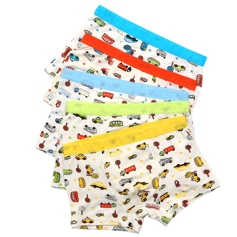 Boys' Boxer Briefs Car Trunk Bus Underwear Boyshort Hipster Kids 2-12 Years BOOPH