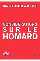 Considérations sur le homard (Les Feux) (French Edition) Kindle Edition