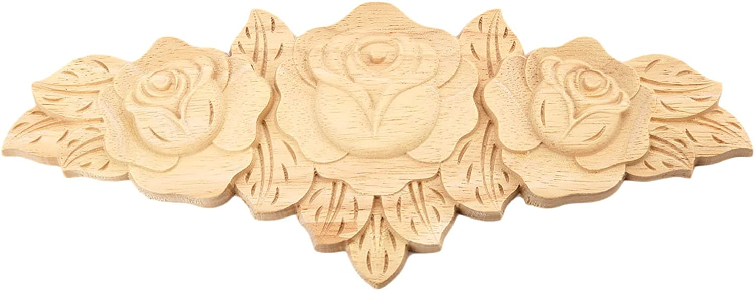 4PCS Wood Carved Onlay Composite Design Elegant Delicate Atistic Applique Woodcarving Table Cabinet Furniture First Selection Best Decoration