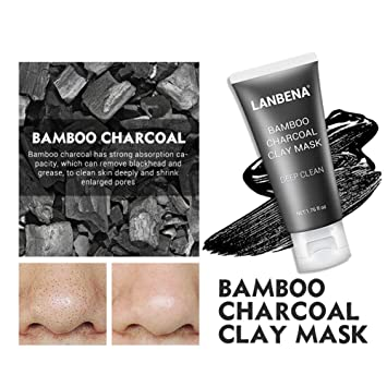 Beauty & Health Bamboo Charcoal Clay Face Mask Mud Deep Clean Oil Control Shrink Pores 250ml