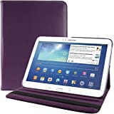 kwmobile Hülle für Samsung Galaxy Tab 3 10.1 P5200 / P5210 / P5220 - 360° Standfunktion Case Tablet Schutzhülle Kunstleder - Smart Cover Tabletcase Violett