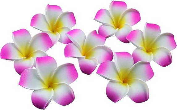 100X  Pink Plumeria Foam Hawaiian Frangipani Flowers For  Wedding Party Decorati