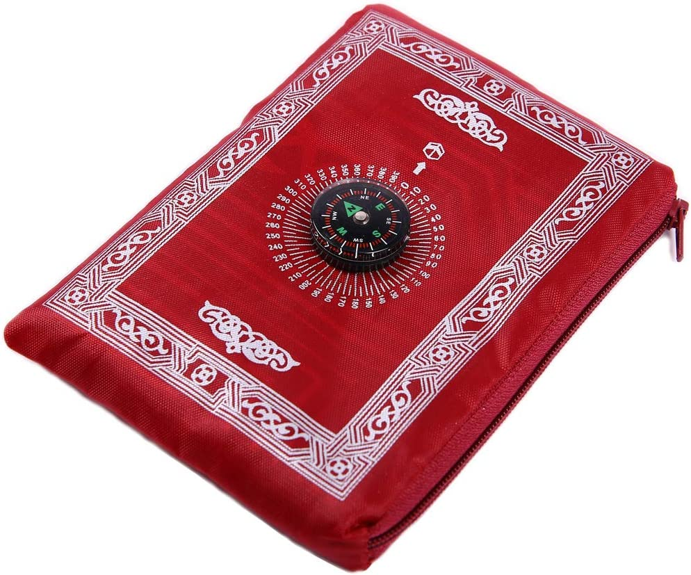 Muslim Prayer Rug with Compass, Muslim Travel Prayer Mat, Compass Islamic Outdoor Prayer Carpet, Islamic Prayer Pad, Portable Muslim Prayer Blanket, Muslim Penguin Bathroom Decor