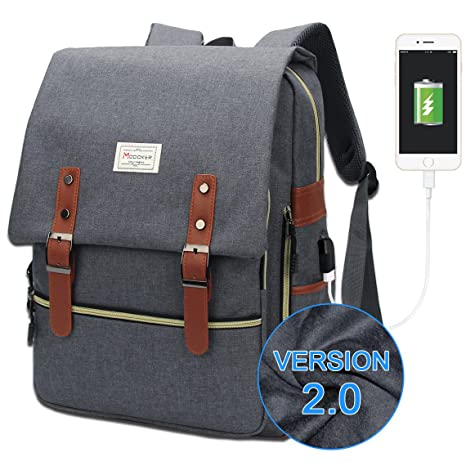 9f84998ae60 Amazon.com  Modoker Vintage Laptop Backpack for Women Men