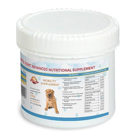 Suplementos Para Las Articulaciones De Los Perros - 180 DÍAS Para Un Perro De 10-25 kg | Suplemento Premium De Glucosamina, Condroitina Y MSM Formulado Por ...