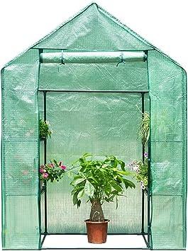 Finether 3-Tier Serre de Jardin Tente Abri Portable Garden Cover Serre à  Tomate en PE Pour Intérieur Jardin Herbes Aromatiques Légume Fruit Balcon  ...
