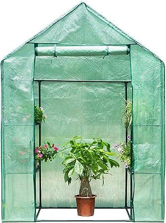 Finether 3 Tier Serre De Jardin Tente Abri Portable Garden Cover Serre A Tomate En Pe Pour Interieur Jardin Herbes Aromatiques Legume Fruit Balcon 143cm X 73cm X 195cm Amazon Fr Jardin