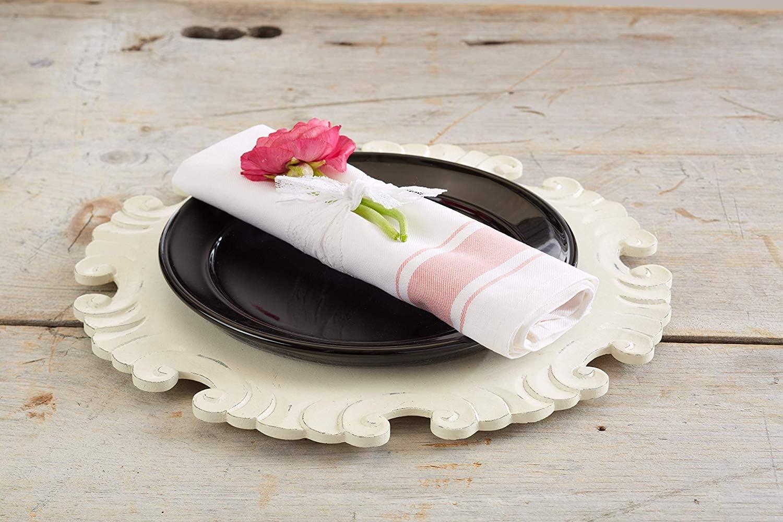 Amazon Com Kozy Kitchen Bistro Stripe Napkins 100 Cotton 20 Inch By 20 Inch Napkin Blue Or Pink Stripe Cloth Napkin Pink 4 Home Kitchen