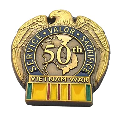 c754d62f73ec3 Image Unavailable. Image not available for. Color  50TH Anniversary Vietnam  WAR Military Veteran Hat ...