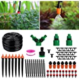 Homga Irrigation Drip Kit, 130ft/40M Adjustable Automatic Micro Garden Irrigation System, Blank Distribution Tubing Hose Atom