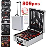 Toolrock 809pcs Tool Kit Trolley Case Mechanics Box Toolbox Portable DIY Set