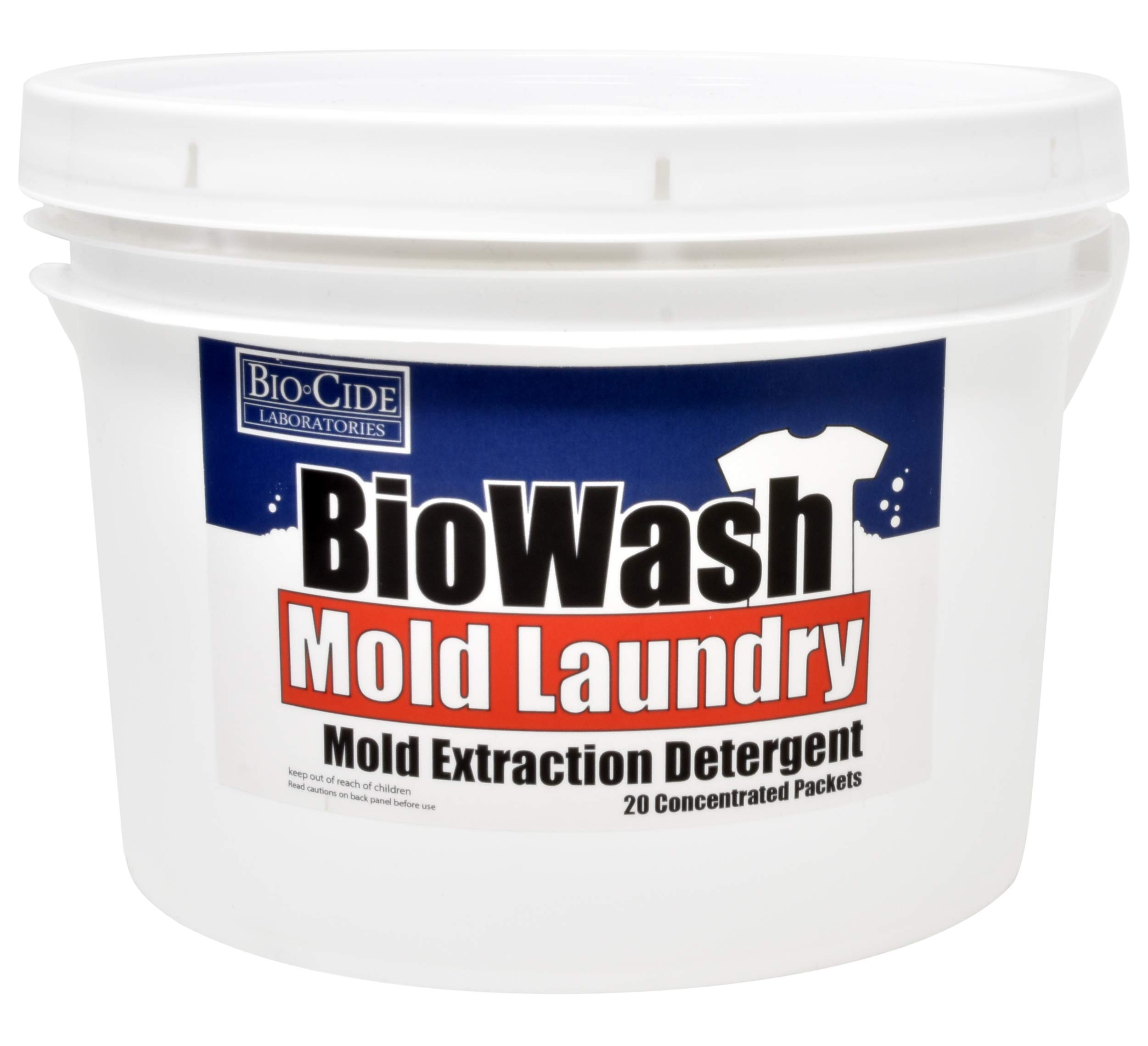 BioCide BioWash Mold Remover Detergent - Mold Killer and Remover, Kill, Clean and Extract Mold, Mildew, Germs, Viruses, Fungi and Bacteria from Laundry-A Mold Extractor & Mold Laundry Detergent System