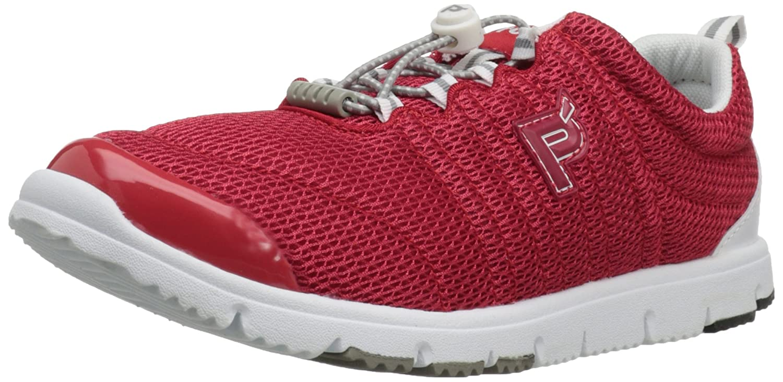 Propet Women's Travelwalker II Shoe B005M97P5C 7.5 N US|Red/White Mesh