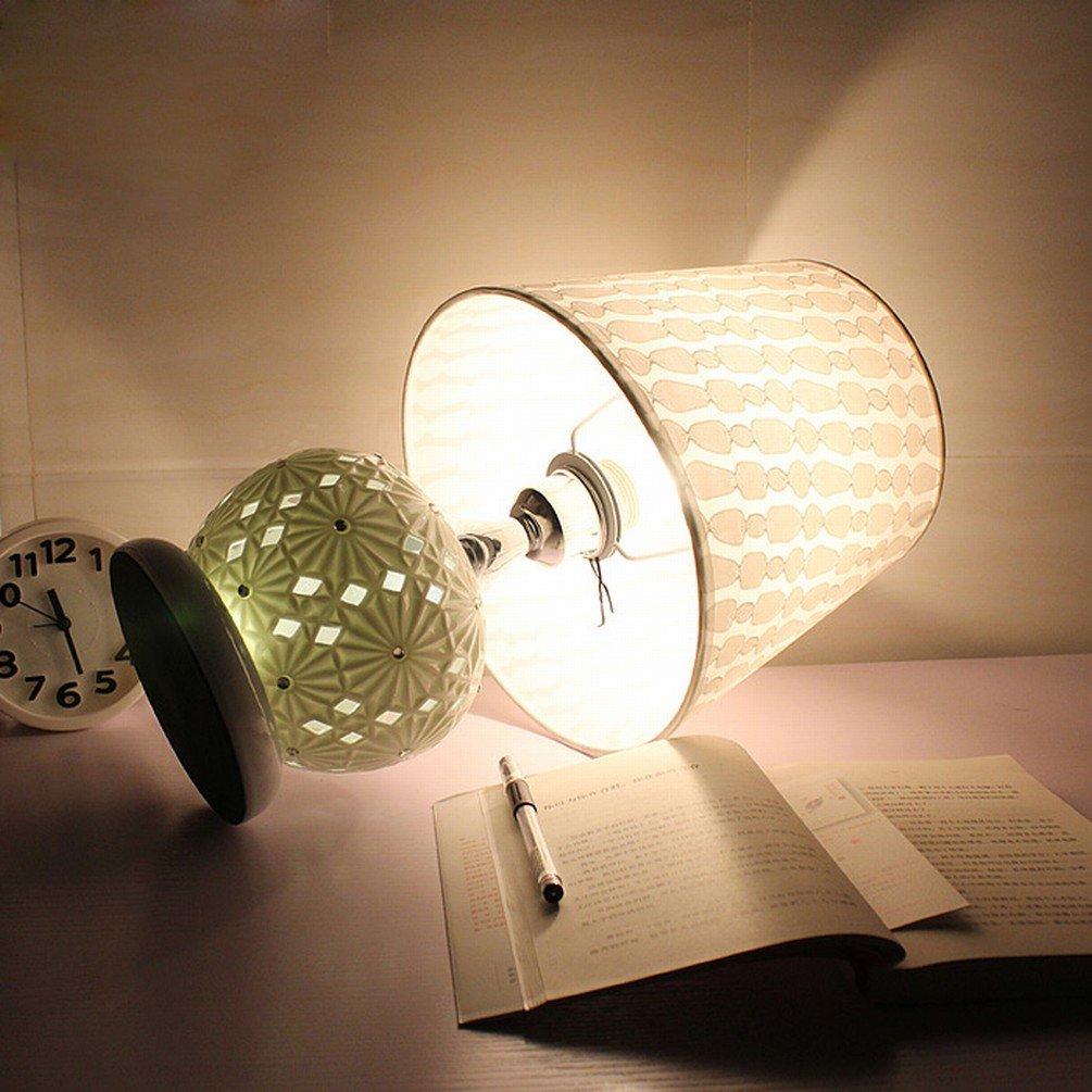 Tischlampe Schlafzimmer Nachttisch Lampen Kreative Mode Warm Keramik Dimmen Einfache Garten Dekoration Fernbedienung Led-lampe,EIN B073QQCJKH | Große Klassifizierung