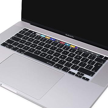 Hotbon Protector de teclado para MacBook Pro 16 versión europea (2019 A2141), impermeable, antimanchas, fácil de limpiar y transparente para el ...
