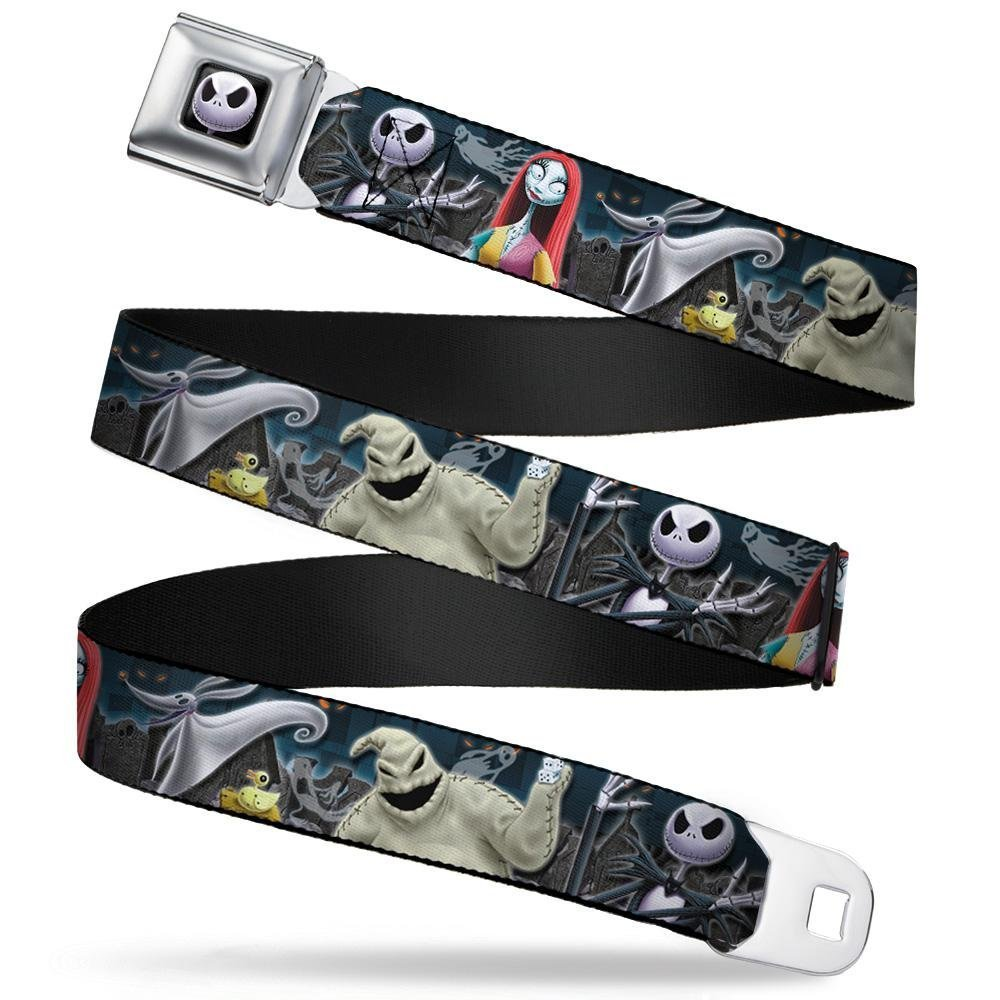 20-36 Inches in Length Nightmare Before Christmas 4-Character Group//Cemetery Scene Buckle-Down Seatbelt Belt 1.0 Wide