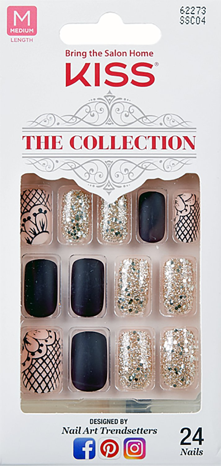 Amazon.com : (2 PACK) Kiss The Collection 24 Nail Kit (SSC02G) Free ...