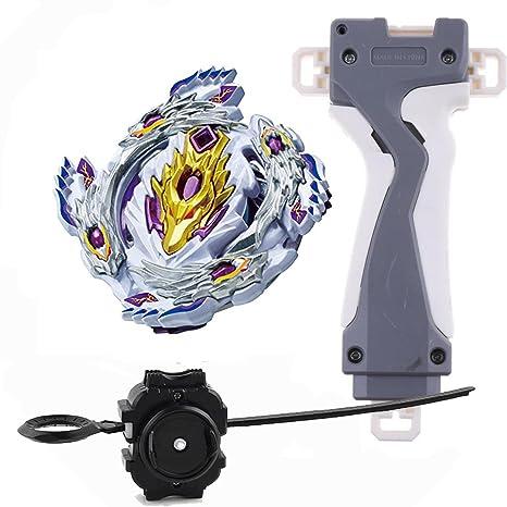 Hustore Bey Battling Top Blade Burst B 110 Starter Bloody Longinus. 13. Ji With Launcher + Grip Set Top Toys For Kids by Hustore