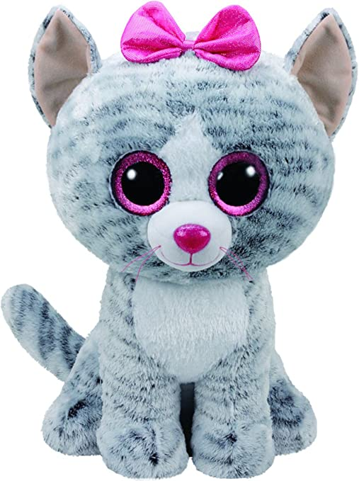 30806f28f0c Amazon.com  Ty 36838 Kiki Cat Plush Toy with Glitter Eye Glubschi s ...