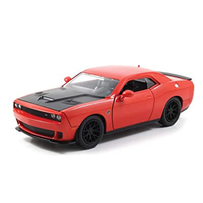 Jada 2015 Dodge Challenger SRT Hellcat 1/24 Scale Diecast Model Car Orange: Toys & Games