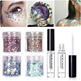 NICOLE DIARY Chunky Cosmetic Glitter Gradient Paillette Iridescent Flakies Nail Sequins Manicure Nail Art Decoration