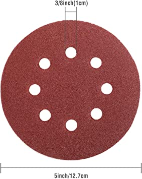 200 pcs 2 box/'s 600 grade. 150 mm  Imperial Velcro Sanding Discs 8 hole