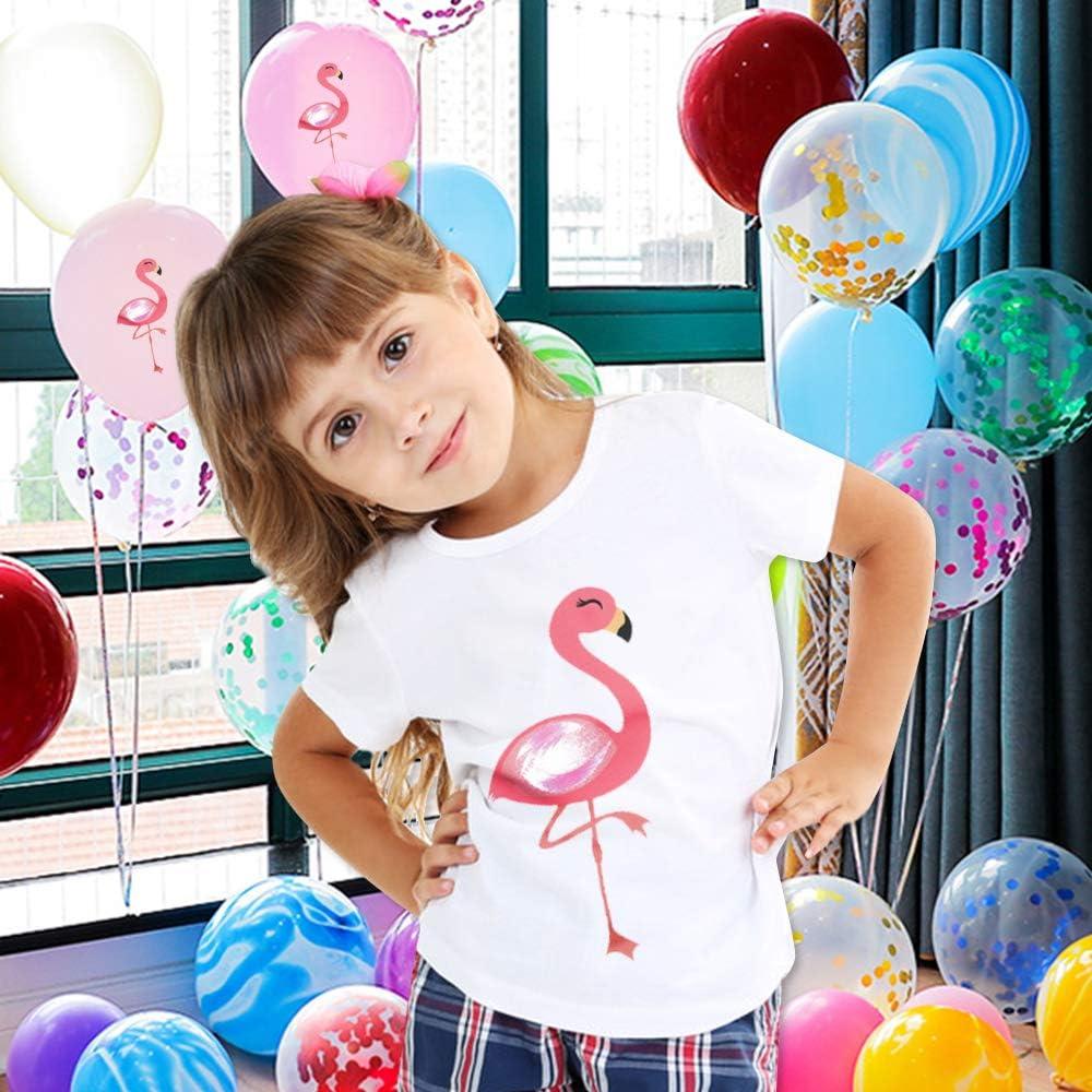 f/ür Baby Flamingos AMZTM T-Shirt f/ür M/ädchen kurz/ärmlig Sommer