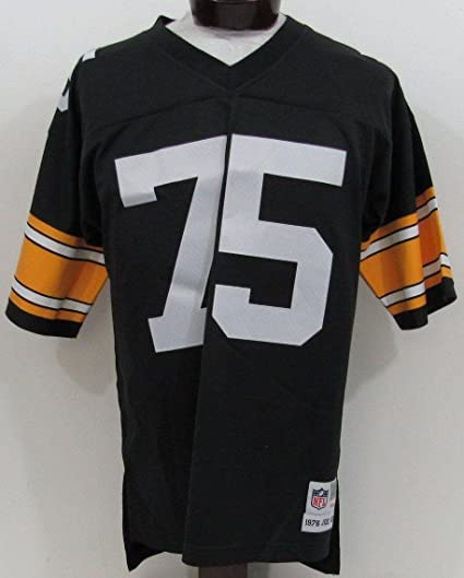 Image Unavailable. Image not available for. Color  Mean quot  Joe Green Pittsburgh  Steelers Mitchell and Ness Black Jersey ... f7493d3cb
