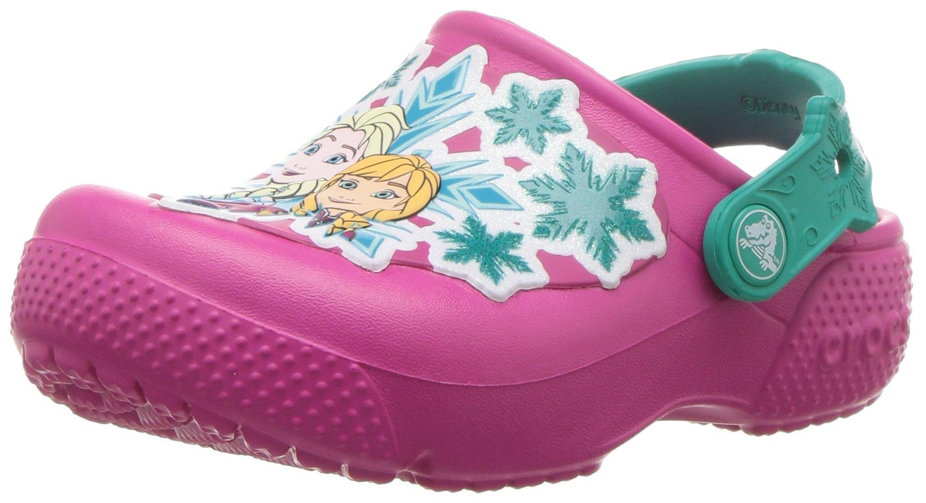 Crocs Girls' Fun Lab Frozen K Clog, Candy Pink, 7 M US Toddler