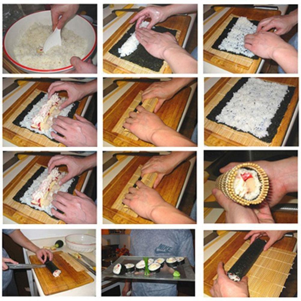 Rodillo de bamb/ú japon/és para hacer manualidades Everpert alfombra de sushi herramienta de cocci/ón 240 x 240 mm