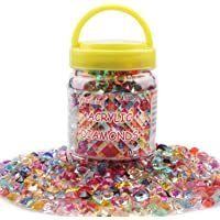 Meching Acrylic Diamonds Crystals 11OZ(1100 PCS) Rainbow Mix Treasure Gems for Table Scatters Vase Fillers Event Wedding…
