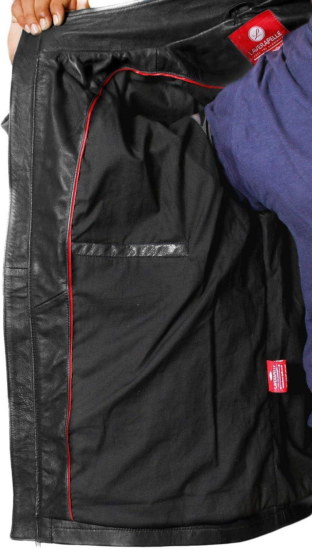 Black, Bomber Jacket Laverapelle Mens Genuine Lambskin Leather Jacket 1501530