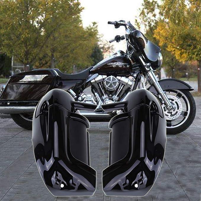 Samger Samger Schwarz Beinschild Belüftet Für Harley Touring Road King Street Glide Flhr Flht 1983 2012 Farbe Auto