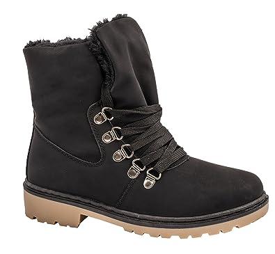 4a2100fb19ae99 best-boots NEU Damen Stiefelette Winter Stiefel BenkeyB Mevina Schwarz 1533  Größe 36