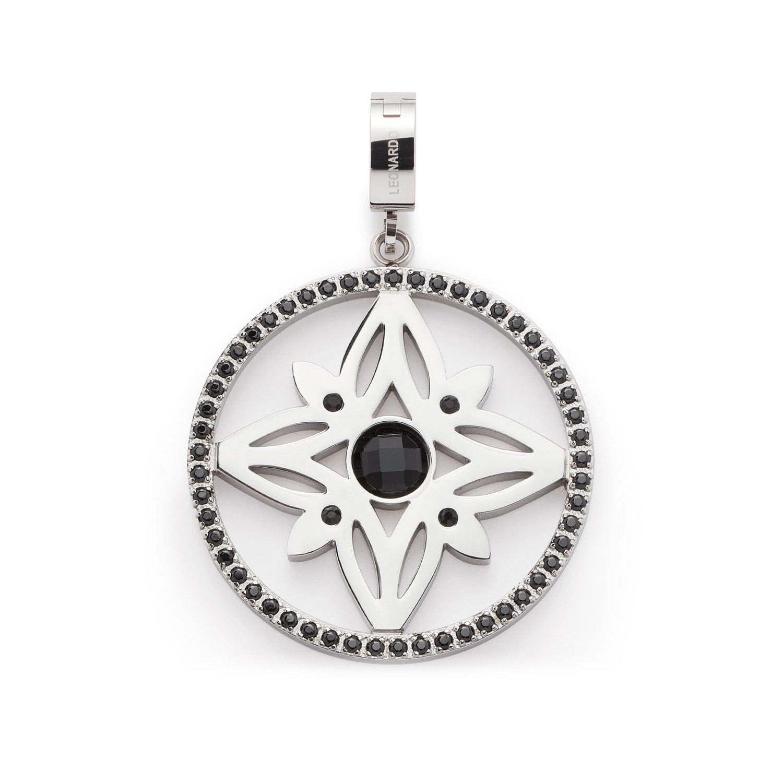 Leonardo Jewels Damen Anh/änger Darlins Joanna Edelstahl Glas schwarz 016393