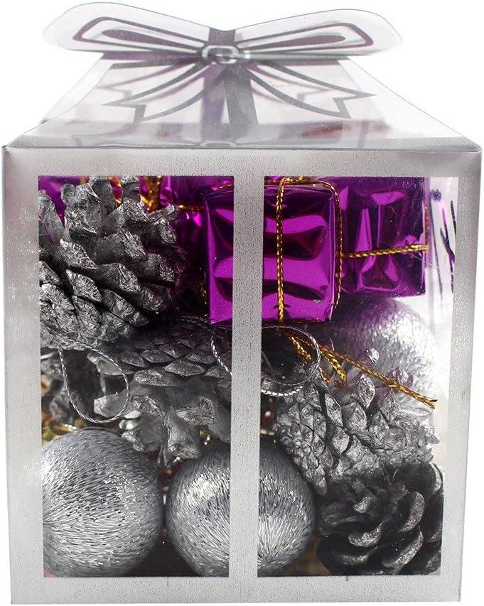 44 pack Arbre de no/ël no/ël incassable avec des boules de no/ël d/écoratives de jingle bells mini rouge no/ël golden tambour et autres