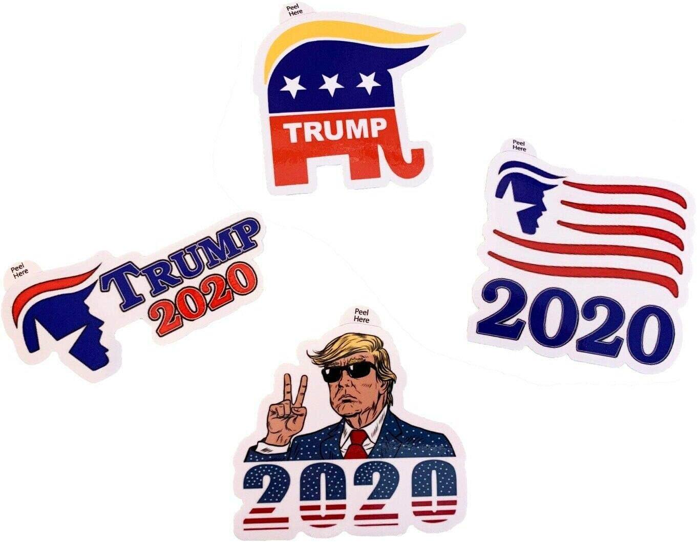 MissFun Donald Trump 2020 Campaign Self Portrait Advocate Laptop Stickers 4 Pcs