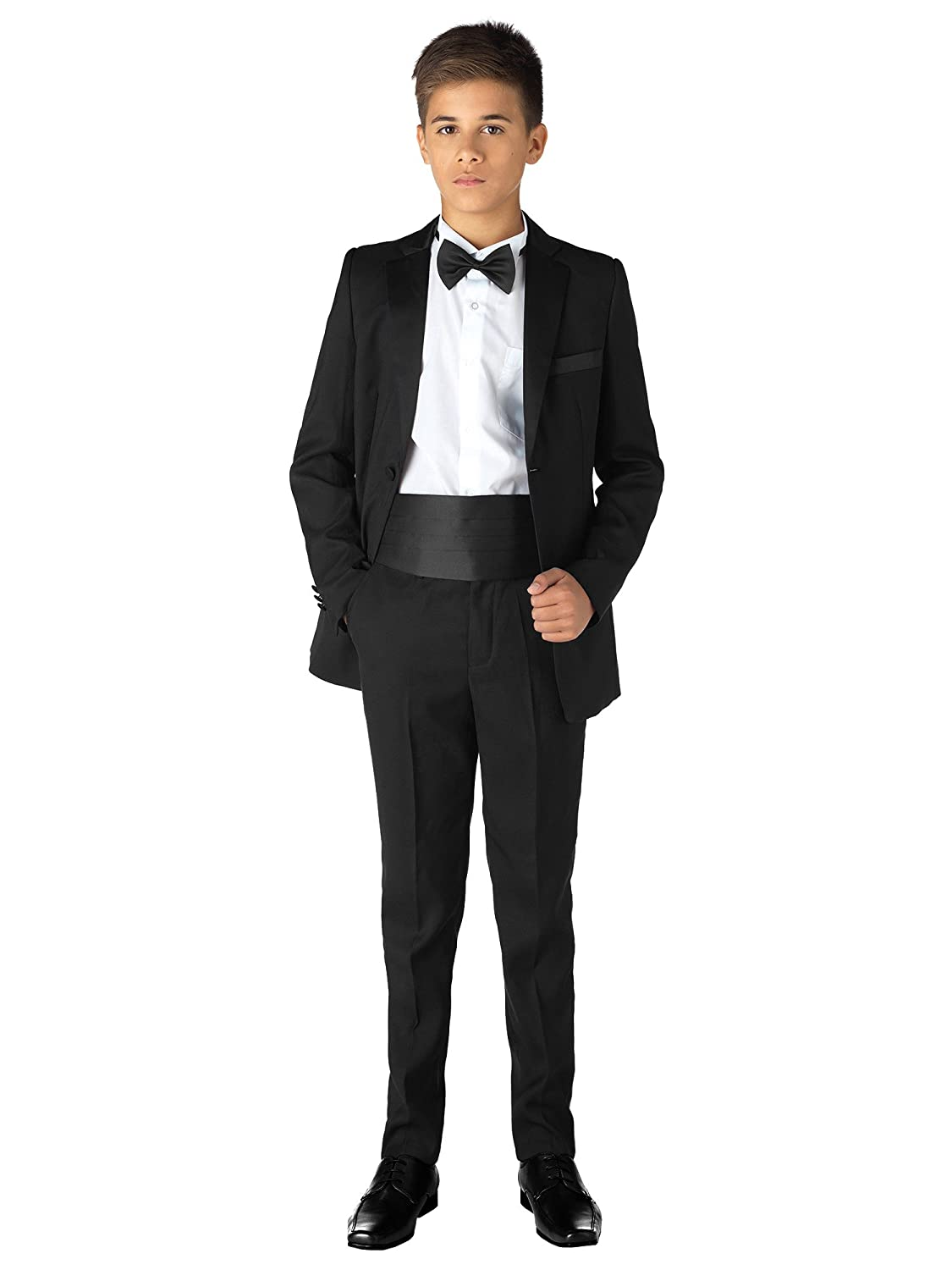 8ea6150fe05e Paisley of London, Boys Black Tuxedo, Boys Dinner Suit, Prom Suit, Boys  Black Suits, 12 Months - 13 Years: Amazon.co.uk: Clothing