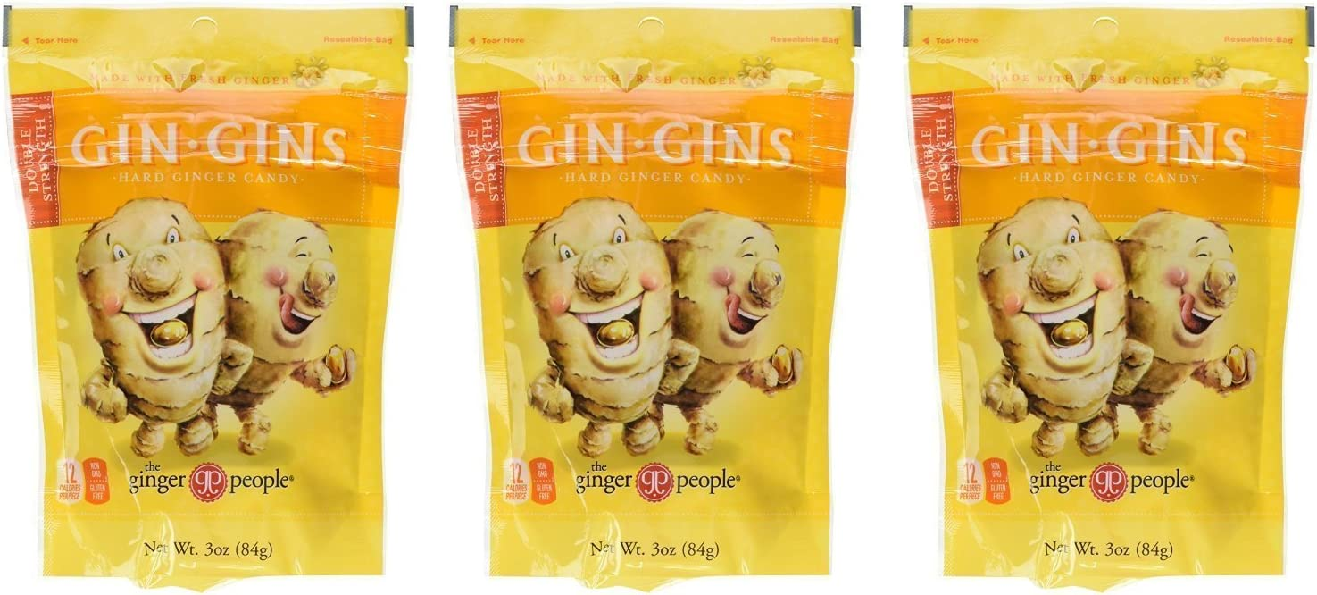 Ginger People Gin-Gins Natural Hard Candy - 6 pack - 3oz Bags - Great for morning sickness and nausea!: Amazon.es: Alimentación y bebidas