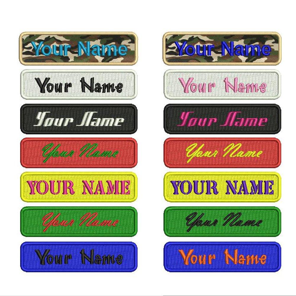 Personalizado Bordado Nombre parche hierro en, 2piezas personalizado Militar número etiqueta personalizada logotipo ID para múltiples bolsas de ropa chaleco chaquetas trabajo camisas... Ltd