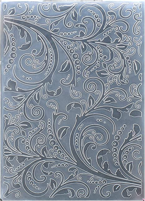 KWELLAM Leaves Wreath Frame HAPPY BIRTHDAY TO YOU Plastic Embossing Folders for Card Making Scrapbooking and Other Paper Crafts,10.5x14.8cm