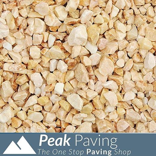 Ágregas Decorativas | Pizarra | Astillas | Gravilla | Piedras | Jardines | 875 kg, Onyx Chippings 15-20mm: Amazon.es: Jardín