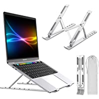 Laptop Stand, LT Portable Adjustable Tablet Computer Stand, Aluminum Alloy Folding Laptop Stand Compatible MacBook Air…