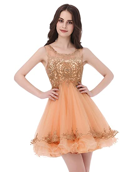 47073a8a0555f Amazon.com: Belle House Junior's Lace Short Prom Party Ball Gowns ...