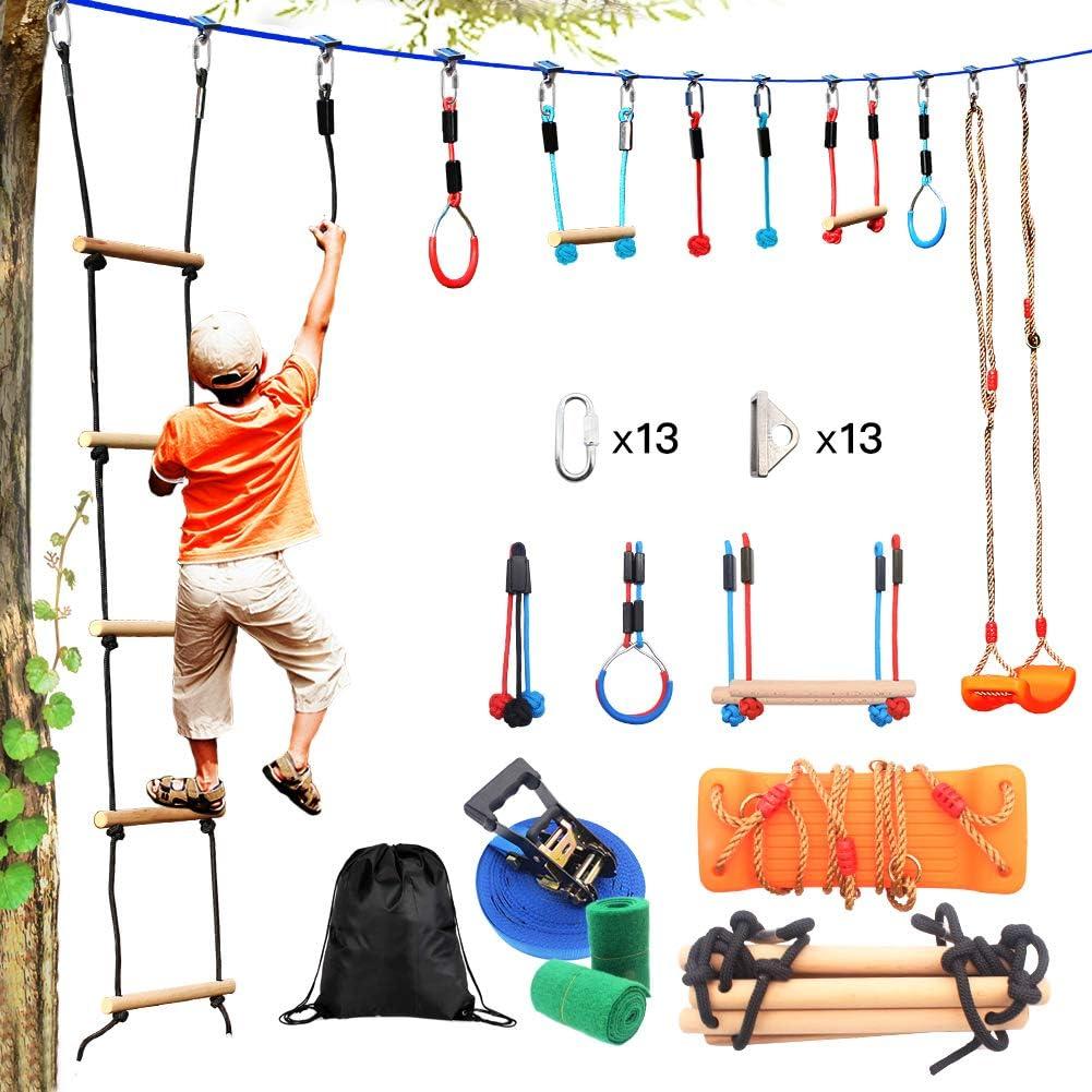 Equipo de Gimnasia Columpio de Jardin Niños Juguetes al Aire Libre Kits Camping con Columpios Arbol Seguridad para Interior y Exterior Juegos Apto para 5 año Niños y Adultos Accesorios de Seguridad